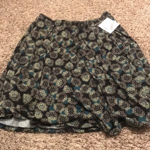 NWT Navy and Teal Madison Skirt